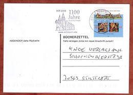 Karte, Buecherzettel, Reichenau Sk, MS Stadt Eichstaett Briefzentrum 86, Schwifting Nach Stuttgart 2007 (88685) - BRD