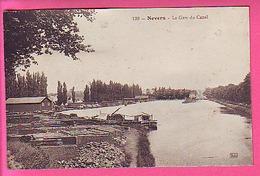 NEVERS LA GARE DU CANAL - PENICHES - Nevers