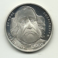 1982 - San Marino 1.000 Lire Argento - Garibaldi - Senza Confezione - San Marino