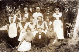 Carte Photo Originale Employés De Maison, Cuisinières, Femmes De Ménage & De Chambre, Chauffeur, Boulanger, 1900/10 - Métiers