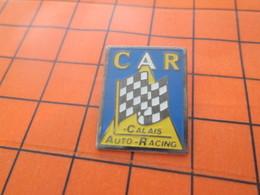 2117 PINS PIN'S / Beau Et Rare : Thème AUTOMOBILES / DRAPEAU A DAMIERS RALLYE CALAIS AUTO RACING - Rallye