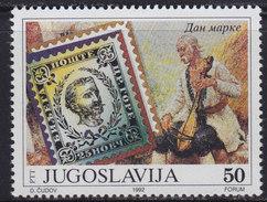 Yugoslavia 1992 Stamp Day, MNH (**) Michel 2564 - Ungebraucht