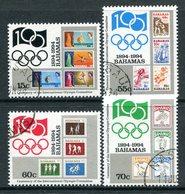 Bahamas 1994 Centenary Of International Olympic Committee Set Used (SG 1008-1011) - Bahamas (1973-...)