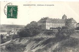 CHAMPLITTE . CHATEAU ET REMPARTS . CARTE AFFR SUR RECTO LE 26-9-1912 . - Andere Gemeenten