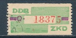 DDR Dienstmarken B 24 Kennbuchstabe Q Gestempelt Geprüft Weigelt Mi. 50,- - DDR