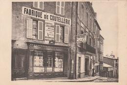 CPA:FABRIQUE DE COUTELLERIE COUTEAU APOLLONOX COUTARET DENISE THIERS (63) PUBLICITÉ VERSO - Thiers