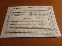 ABBONAMENTO AST-1992 - Abonnements Hebdomadaires & Mensuels