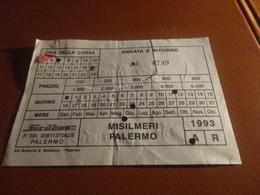 BIGLIETTO SICILBUS-MISILMERI PALERMO-1993 - Abonnements Hebdomadaires & Mensuels