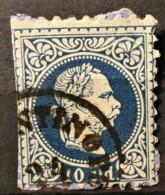 AUSTRIAN POST IN LEVANTE 1867 - CONSTANTINOPEL Cancel - ANK 4 I - 10sld - Usados