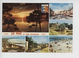 Les Pieux Et Ses Environs Multivues Plage Sciotot Flamanville Manoir Du But Dielette - Frankrijk