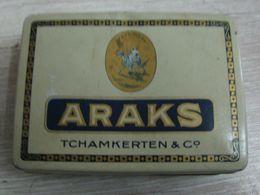 AC - ARAKS TCHAMKERTEN & Co PREMIERE ANVERS GENEVE CIGARETTE - TOBACCO EMPTY VINTAGE TIN BOX - Boites à Tabac Vides