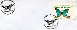 BOLIVIA. SOBRE FDC. 2001. SERIE MARIPOSAS. FARFALLE. BUTTERFLIES. LA PAZ. - NTVG - Bolivia