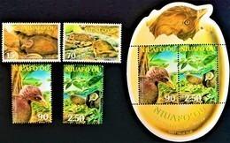 # Niuafo'ou 2002**Mi.395-98 + Bl.34  Birds , MNH  [19;142] - Birds