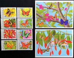 # Dominica 1989**Mi.1213-22 Butterflies , MNH [18;167] - Schmetterlinge
