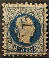 AUSTRIAN POST IN LEVANTE 1867 - CONSTANTINOPEL Cancel - ANK 4 II - 10sld - Usados