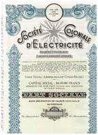 Titre Ancien - Société Coloniale D' Electricité - Société Congolaise à Responsabilité Limitée - Titre De 1951 - Afrika
