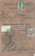 "NN Streifbandvs  ""Lehrerkalender 1913, Zürich"" - Triengen             1913 - Covers & Documents"