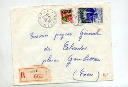 Letttre Recommandée Brix Sur Reunion - Poststempel (Briefe)