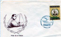 PERU. SOBRE FDC. 1987. CENTENARIO DEL NACIMIENTO DE JORGE CHAVEZ DARTNELL. AVIADOR. AVIATOR . LIMA. - NTVG - Pérou