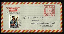 ANDORRE ANDORRA Aérogramme Espagne Non Oblitéré Départ + 5Ptas ST JULIA DE LORIA 6-7-79 - Andorre Espagnol