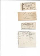 LE 0372. 4 RECUS De BRUXELLES. TB - Poststempel