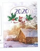 CALENDRIER DE POCHE 2 VOLETS ANNÉE 2020 ( Voir Scan) - Kalenders