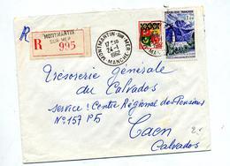 Letttre Recommandée Montmartin Sur Reunion - Poststempel (Briefe)