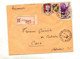 Letttre Recommandée Flamanville Sur Kerrata Decaris - Poststempel (Briefe)