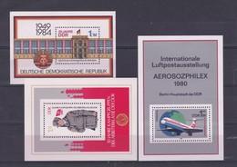 DDR Kleine Verzameling Blokken **, Zeer Mooi Lot K1037 - Timbres