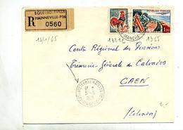 Letttre Recommandée Equeurdreville Sur Coq Touquet - Poststempel (Briefe)