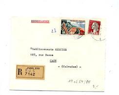Letttre Recommandée Paris XVII Sur Decaris Touquet - Poststempel (Briefe)