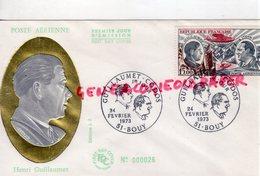 51- BOUY - ENVELOPPE POSTE AERIENNE HENRI GUILLAUMET - CODOS - 1973 AVIATION - FDC