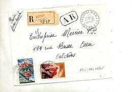 Letttre Recommandée Boisse Sur Flour Joux - Poststempel (Briefe)
