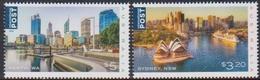 AUSTRALIA, 2019, MNH, AUSTRALIAN CITIES, SYDNEY, SYDNEY OPERA HOUSE, SHIPS, PERTH,2v - Architecture