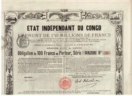 Titre Ancien - Etat Indépendant Du Congo - Emprunt De 150 Millions De Francs - Obligation De 100 Francs - Titre De 1888 - Africa
