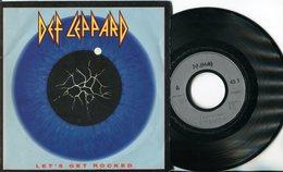 Def Leppard - 45t Vinyle - Let's Get Rocked - Pochette Poster - Hard Rock & Metal