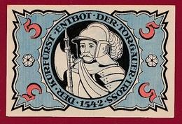 Allemagne 1 Notgeld De 5 Pfenning Stadt Torgau Dans L 'état  N °5393 - [ 3] 1918-1933 : Repubblica  Di Weimar