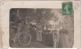 JARD PHOTO CARTE GARDE CHAMPETRE ET SA FAMILLE 1908 - Autres Communes
