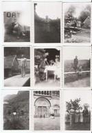 LOT DE 42 PHOTOS ANCIENNES FAMILLE VOYAGE - Lieux