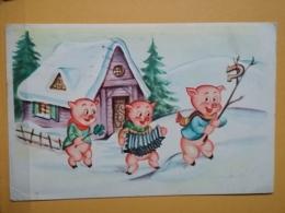 KOV 8-180 - NEW YEAR, Bonne Annee, Pig, Porc, Accord, Accordeon, Accordion, Cochon - Anno Nuovo