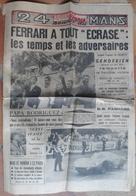 24 H Du Mans 1961.Ferrari A Tout écrasé.DB Panhard. - Desde 1950