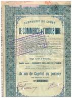 Titre Ancien - Compagnie Du Congo Pour Le Commerce Et L'Industrie - Société Anonyme - Titre De 1929 - Africa