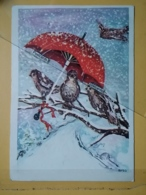 KOV 8-181 - NEW YEAR, Bonne Annee, BIRD, OISEAU, Umbrella, Parapluie - Nouvel An