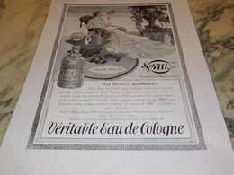 ANCIENNE PUBLICITE LES HEURES ACCABLANTE  EAU DE COLOGNE 4711 1930 - Parfum & Cosmetica