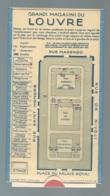 Carte à Systeme , Guide Du Grands Magasins Du Louvre - Paris - Vers 1930 D'après L'archive   - Bpho3205 - Tourism Brochures