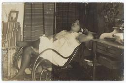 CPA Carte Photo Ancienne Femme Prostituée Prostitution érotique érotisme Artistique 1900-1920 Nu Nue Féminin Postale - Nus Adultes (< 1960)