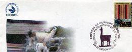 BOLIVIA. SOBRE FDC. 2005. TEJIDOS PATRIMONIALES DE BOLIVIA. TEJIDOS. TESSUTO. FABRICS. - NTVG - Bolivien