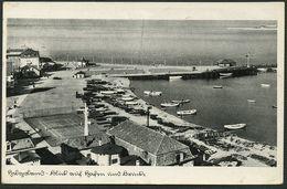 HELGOLAND 1941, FOTO-PK, ABB: BLICK AUF HAFEN UND BRÜCKE, FELDPOSTSTEMPEL - Helgoland