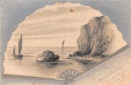Eventail - Bord De Mer - Bateau - Voilier - 1901 - Cartes Postales