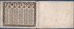 Calendrier  Anciens -1831-sur Papier -1 Feuillet Recto/verso - Format  10.5 X 8 Cms  Hors Support  Bon état Voir Scans - Calendriers